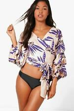 Boohoo Anya Hawaiin Wrap Beach Top para Mujer