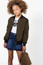 Boohoo Girls Padded Bomber Jacket per Donna