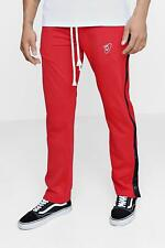 Boohoo Regular Fit Tricot Joggers with Poppers para Hombre