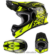 O'NEAL 3Series Benzina GIALLO NEON NERO CASCO DA CROSS QUAD MX motocross S M L