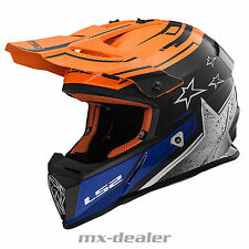 LS2 MX 437 RÁPIDO Core Naranja Casco Motocross CROSS enduro quad bmx DH