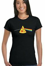 SCURO SIDE OF THE PIZZA - DONNA T-SHIRT DIVERTENTI PINK FLOYD PARODIA Dave