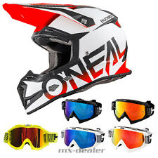 Oneal 5 Series Bloqueador NARANJA CASCO CROSS MX Motocross HP7 GAFAS ENDURO