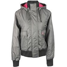 Dickies Leanne Giacca Donna Giacca invernale grigio con houndstooth-muster