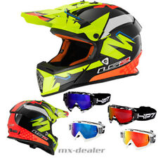 LS2 MX 437 Isaac Vinales GIALLO CASCO MOTOCROSS CASCO DA CROSS HP7 OCCHIALI