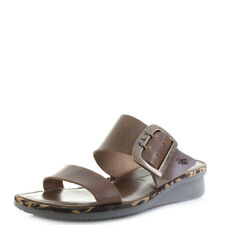 Womens Fly London Cape Bridle Camel Brown Leather Wedge Sandals UK Size
