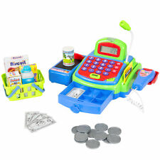 Educational Kids Pretend Toy Cash Register Working Scanner, Mic, And Calculator