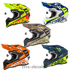 O'NEAL 2Series Spyde BLU NERO GIALLO CASCO CROSS CASCO MX motocross cross enduro