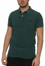 SUPERDRY HOMME POLO VINTAGE DESTROY SS Pique Polo Royal Vert