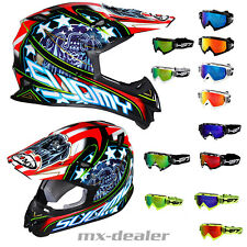 Suomy Signor Jump Eagle Black Nero + HP7 Occhiali da Cross Mx Casco Motocross