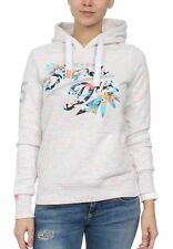 Superdry Sweater Damen STACKER TROPICAL Grey Marl Injected Fluro Coral