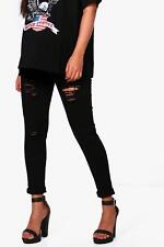 Boohoo Maternity Ivy Rip Skinny Over The Bump Jean per Donna
