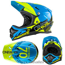 ONEAL Backflip Burnout NERO AZZURRO dh bmx mountainbike Casco MTB FREERIDE