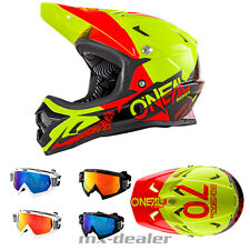 ONEAL Backflip Burnout NERO-GIALLO dh bmx mountainbike Casco MTB OCCHIALI