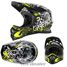ONEAL Backflip Attack NERO-GIALLO dh bmx mountainbike Casco MTB FREERIDE