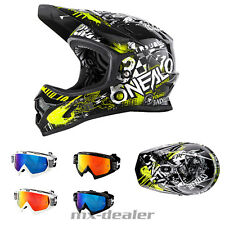 ONEAL Backflip Attack NERO-GIALLO dh bmx mountainbike Casco MTB OCCHIALI