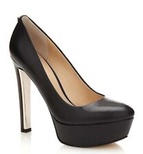 DECOLLETE DONNA GUESS EAGER PUMP TACCO 13 LEATHER BLACK
