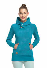 RAGWEAR pull femmes chelsea à pois 1811-30012 Turquoise Turquoise 5038