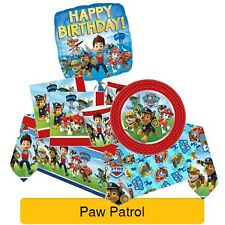 PAW PATROL Birthday Party Range (Tableware Balloons Banners & Decorations){1C}