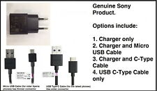Genuine Used Sony UCH20 EU Mains Charger & New USB Cable for Sony Xperia Mobiles
