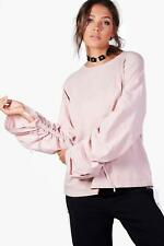 Boohoo Tall Milly Top Oversize Con Maniche A Ruche per Donna