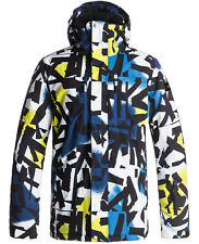 QUIKSILVER MISSION PRINTED JACKET SULPHUR SPRING BREAK THE CIRCLE