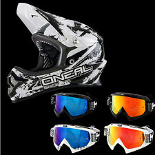 ONEAL Backflip MTB DH BMX RL2 SHOCKER NERO mountainbike CASCO OCCHIALI FREERIDE