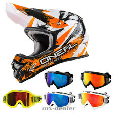 O'NEAL 3Series choquant ORANGE CASQUE CROSS MX MOTOCROSS Traverser HP7 lunettes