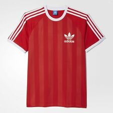 Adidas Originals California Camiseta Hombre Retro Rojo Top Fútbol XL