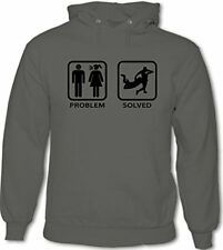 Rugby - PROBLEM SOLVED - Hombre Divertido Sudadera Con Capucha Inglaterra Gales