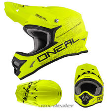 O'NEAL 3Series FLAT OPACO GIALLO NEON Casco da cross enduro MX motocross S M L