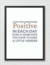 Look For Something Positive Typography Art Print Decor Word Art Inspirational