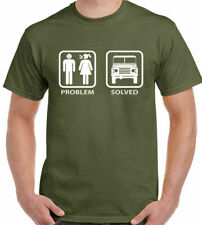 PROBLEM SOLVED Defender Hombres Camiseta Divertida Land Rover Fuera de carretera
