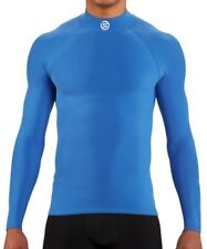 SKINS DNAmic Team Long Sleeve Mock Neck Mens Thermal Training Top - Blue