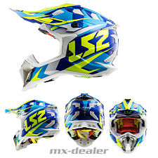 LS2 LS 2 MX 470 SUBVERTER Nimble BIANCO BLU MX Casco da cross motocross enduro