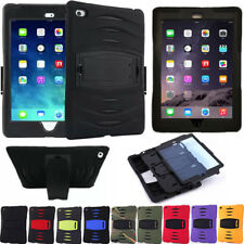Shockproof Hybrid Heavy Duty Rubber Hard Stand Case Cover For Apple iPad Models