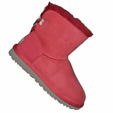 UGG AUSTRALIA  BOTTE  FEMME  MINI BAILEY BOW STRIPE 1005304W  RED ROUG NE GRADE