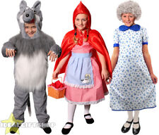 LITTLE RED RIDING HOOD WOLF GRANDMA CHILDS FANCY DRESS COSTUME SCHOOL BOOK DAY