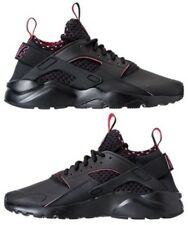 NIKE AIR HUARACHE RUN ULTRA SE MENs SPANDEX CASUAL BLACK - SOLAR RED AUTHENTIC