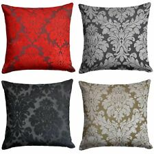"Downtown Floral Cushion Cover Luxury Flock Filigree Cushion Covers 18"" x 18"""