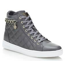 SNEAKER STIVALETTO DONNA GUESS GERTA CATENA LEATHER GREY