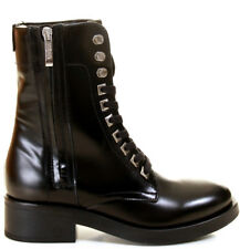 STIVALETTO DONNA GUESS ZELDA STRINGATO CON ZIP LEATHER BLACK