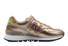 SNEAKER DONNA NEW BALANCE 574 GLITTER PUNK SPORT LIFESTYLE LEATHER TEXTILE MULTI