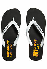 Superdry Hombre Chanclas de dedo Sleek Black Optic Blanco