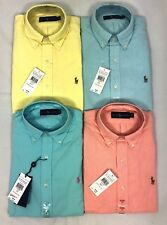 POLO RALPH LAUREN MENS GENUNE NEW SUMMER SOLID COTTON OXFORD SHIRTS ALL SIZES