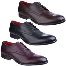 Base London FORD grano Hombre Formal Cuero Con Cordones Zapatos Casuales