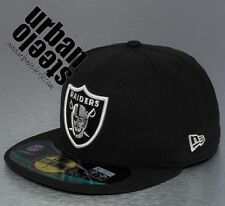 Gorra plana NEW ERA 59 fifty 5950 Oakland RAIDERS rap hiphop NFL fitted hat cap