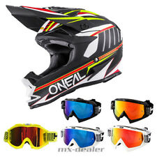 O'NEAL 7series EVO CHASER Blanco CASCO CROSS MX Motocross HP7 GAFAS S M L XL