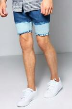 Boohoo Skinny Fit Denim Shorts with Bleached Hem para Hombre