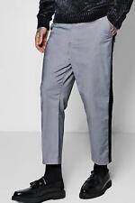 Boohoo Cropped Taped Formal Trouser per Uomo